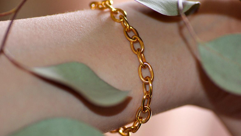 bracelet or massif paris creation solid gold