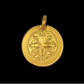 medaille de bapteme or