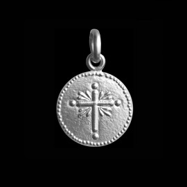 medaille bapteme croix