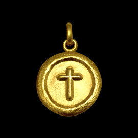 Croix sceau ronde