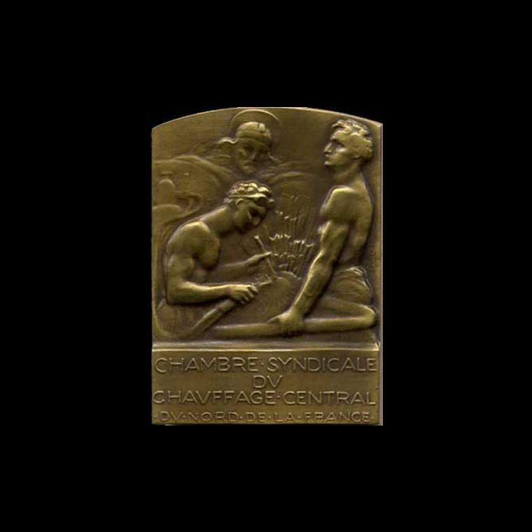 Chambre syndicale de chauffage du nord collection g n rale m dailles d art bronze m dailles - Chambre syndicale des eaux minerales ...