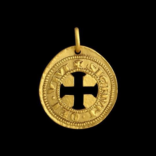 Medaille Baptême or