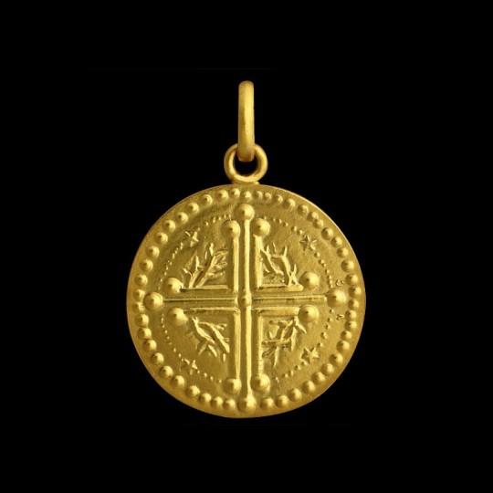 medaille bapteme or