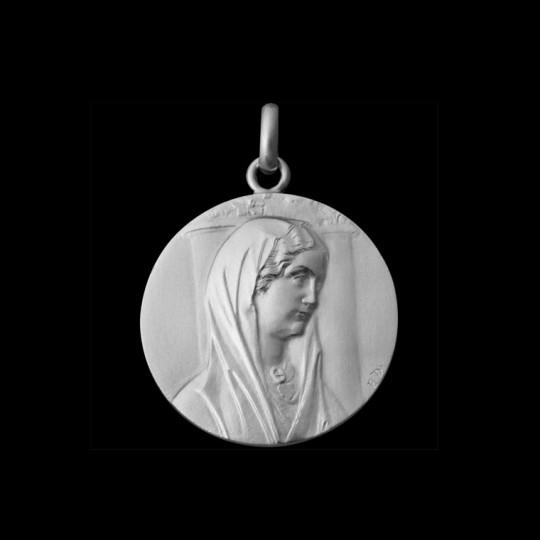Médaille de bapteme Vierge de Reims