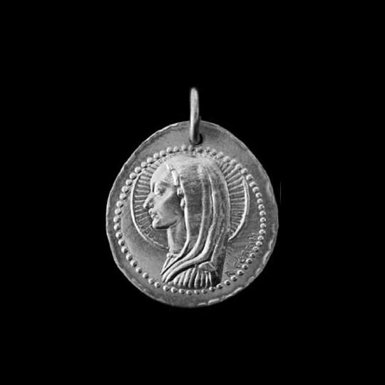 medaille bapteme Vierge Romaine