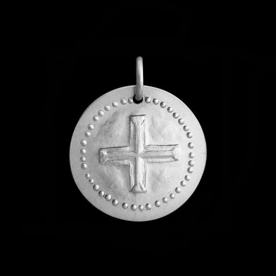 médaille de baptême croix