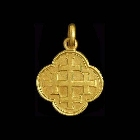 medaille bapteme croix jerusalem