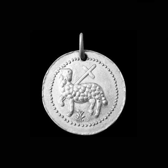Medaille de bapteme Agnus Dei