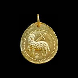 médaille de baptême de l'agneau