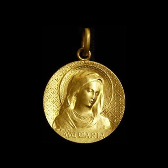 medaille bapteme vierge