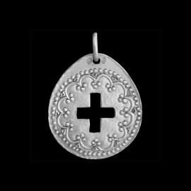 medaille bapteme croix renaissance