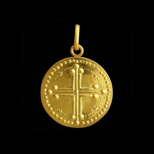 croix baptême or