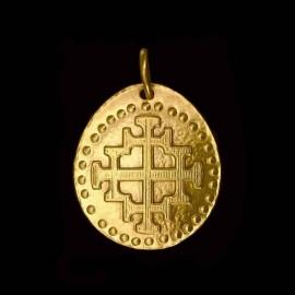 medaille bapteme Croix de Jérusalem