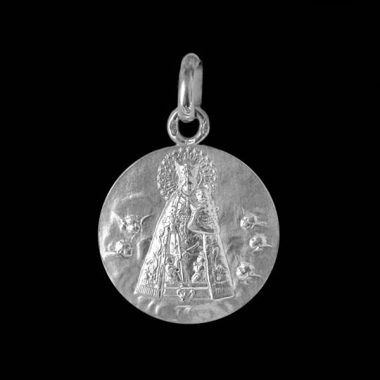 Medaille bapteme Vierge à l'enfant en majesté