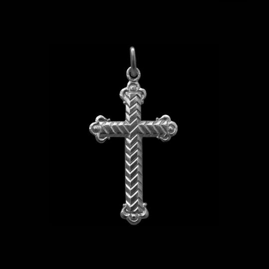 Croix argent Bapteme