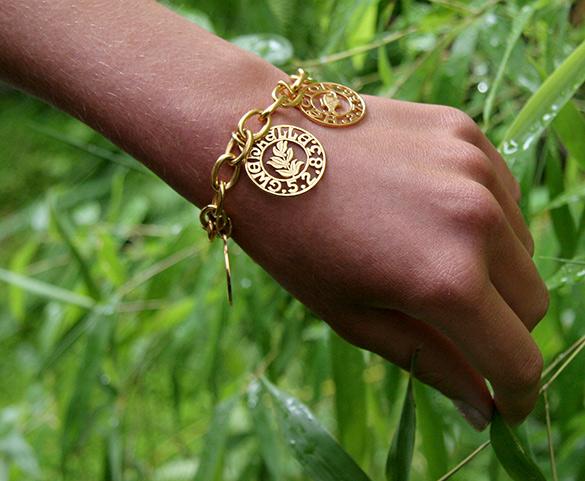bracelet or massif solid gold creation paris
