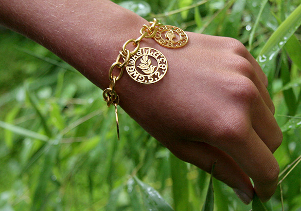 bracelet or massif solid gold creation paris