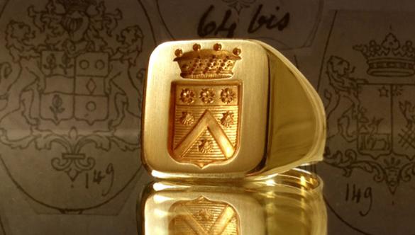 Heraldic engraving