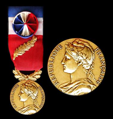 Medaille officielle d'honneur du travail 35 ans