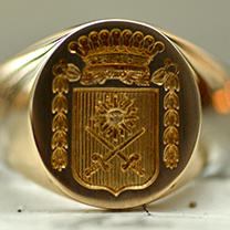signet ring family crest