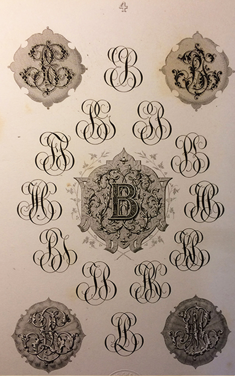 gravure initials entrelaces