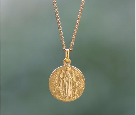 Médaille de baptême - Assomption aux quatres anges