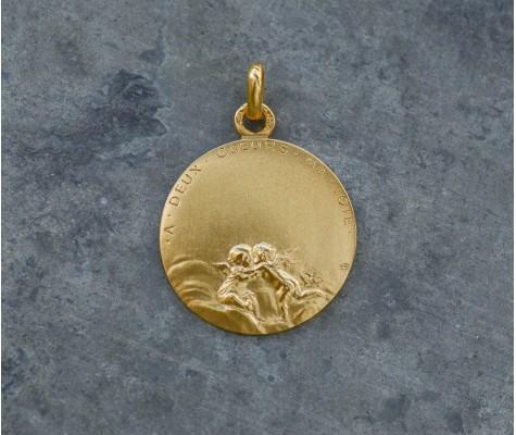 Médaille Canale - À deux coeurs ma joie