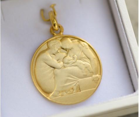 Médaille Sainte Famille Art Deco