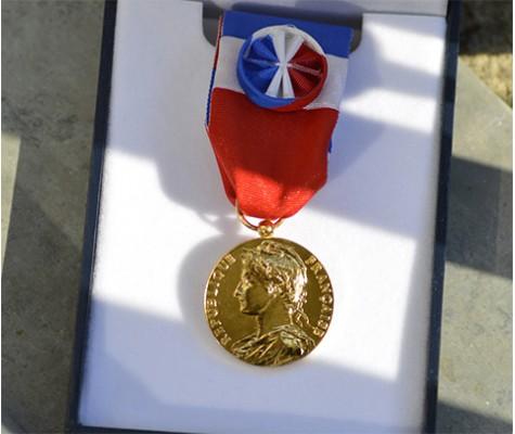 Commandez vos médailles d'honneur du travail